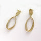 Layered Oval gold earrings