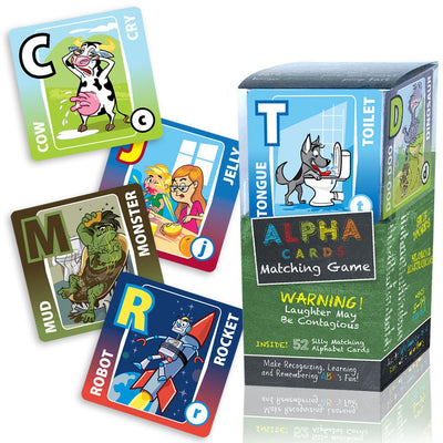Alpha Cards memory matching game