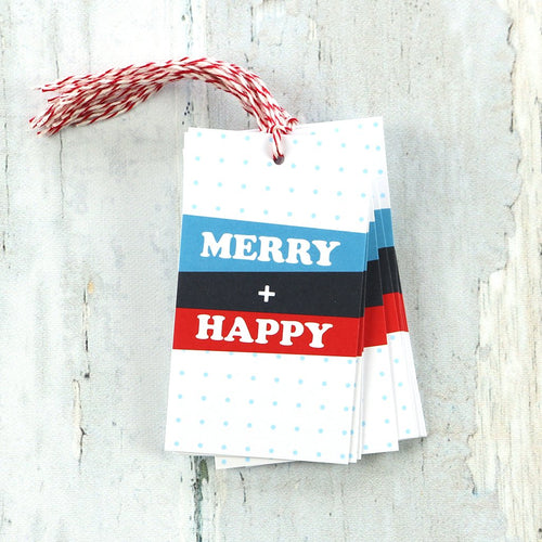 Merry Happy Holiday Gift Tags