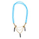 Masai layers necklace in turquoise