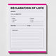 Declaration of Love notepad