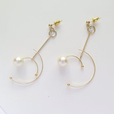 Pearl Satellite earrings
