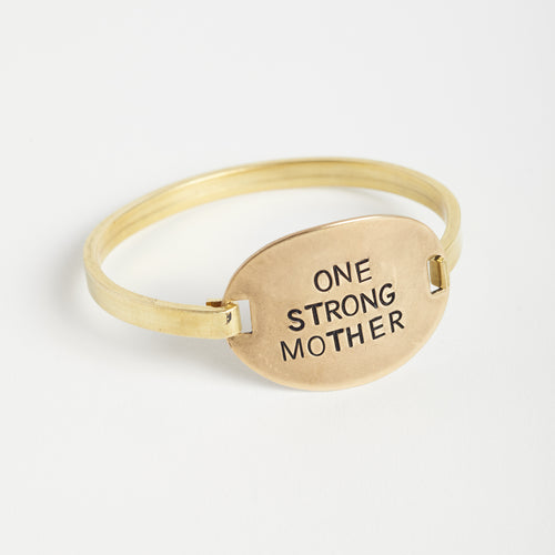 One Strong Mother oval bracelet