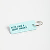 Keep Calm & Carry Snacks keychain