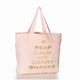 Keep Calm & Carry Snacks tote