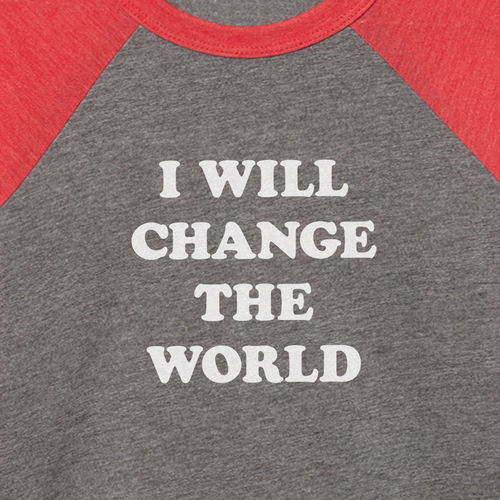 I Will Change The World kids t-shirt