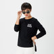 Was Cool Once side slit long sleeve t-shirt