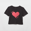 Badass Mama heart cropped t-shirt
