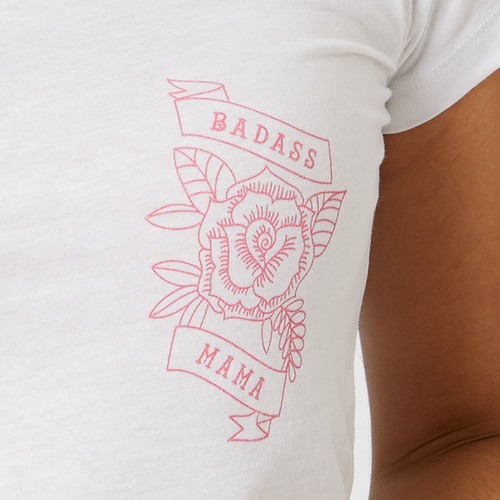 Badass Mama rose t-shirt