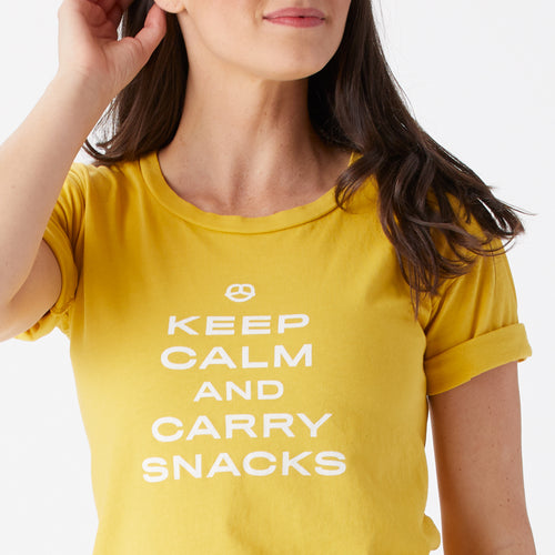 Keep Calm & Carry Snacks roll sleeve tee