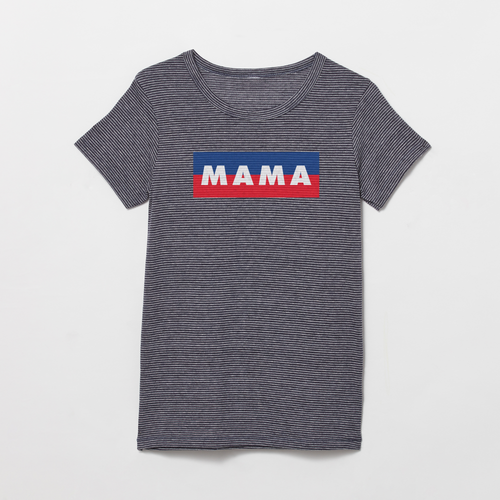 Mama striped t-shirt