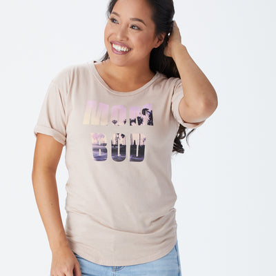 Mom Bod roll sleeve tee