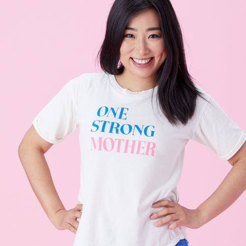 One Strong Mother roll sleeve tee