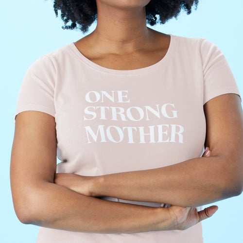 One Strong Mother scoopneck tee