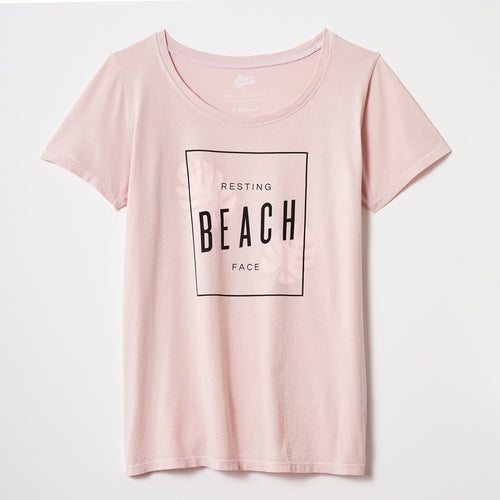 Resting Beach Face scoopneck tee