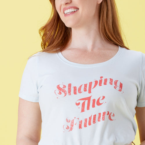 Shaping the Future scoopneck tee