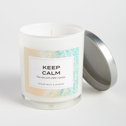 Keep Calm candle