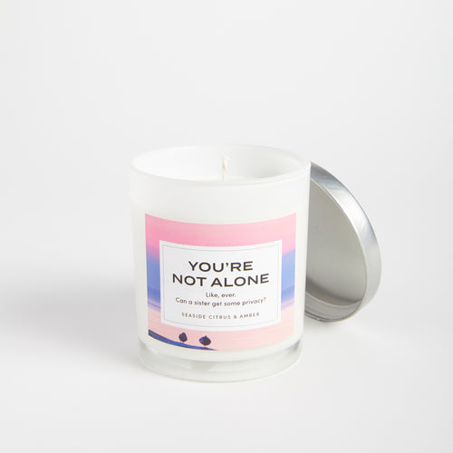 You're Not Alone candle