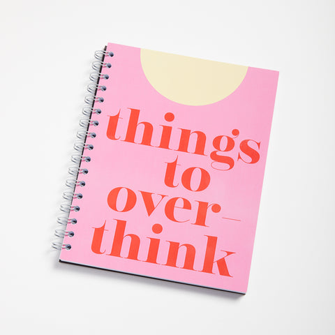 Things to Overthink notebook - Image