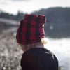 Buffalo plaid reversible beanie