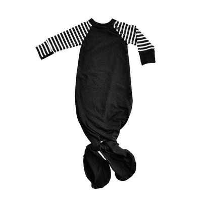 Black and white striped knotted sleeper