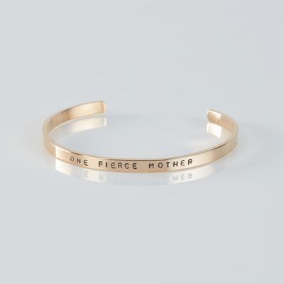 One Fierce Mother skinny cuff