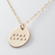 Mama Llama disc necklace