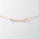 One Strong Mother bar necklace