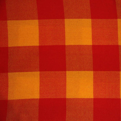 Saffron and red check Masai blanket