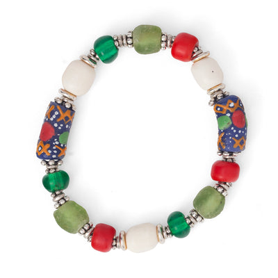 Gashi bead and bone bracelet