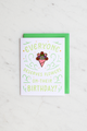"""Birthday Flowers"" enamel pin card"