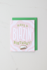 """Blazin' Birthday"" enamel pin card"