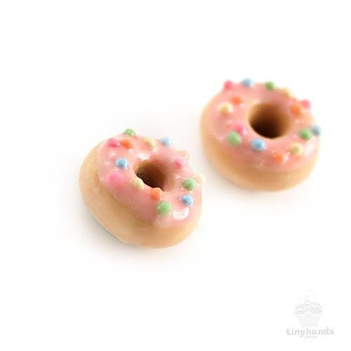 Scented or Unscented Strawberry Sprinkles Donut Earstuds