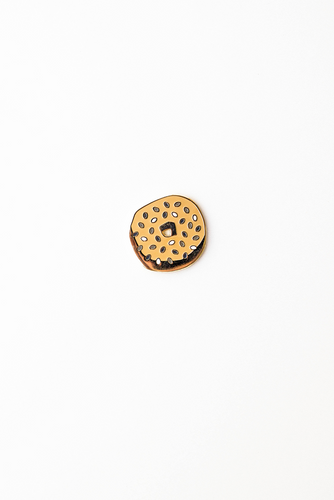 """Everything Bagel"" enamel pin card"