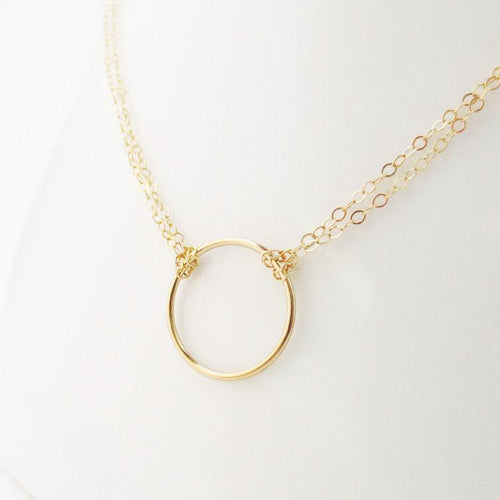 Felicity open circle eternity necklace