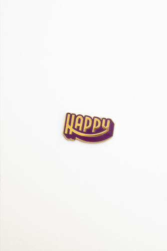 """Happy Birthday"" enamel pin card"