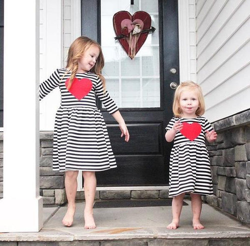 Red Heart Patch Dress