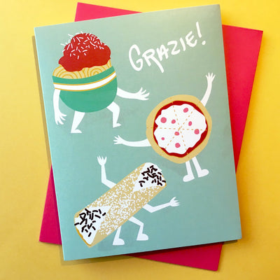 """Grazie!"" thank you card"