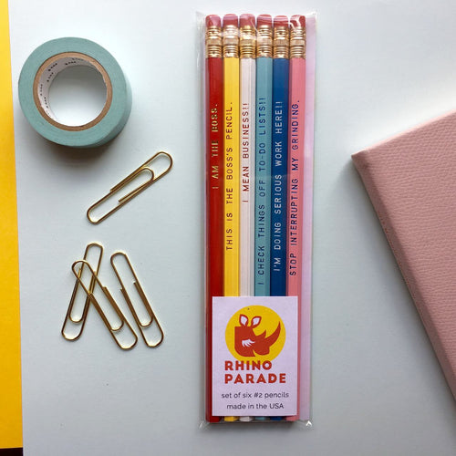 """FOR THOSE CUTE AND BUSY"" pencil set"