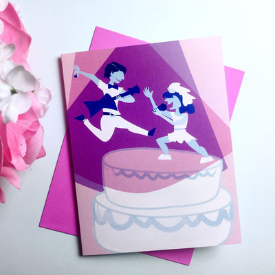 """Rockstar Wedding"" card (two brides)"