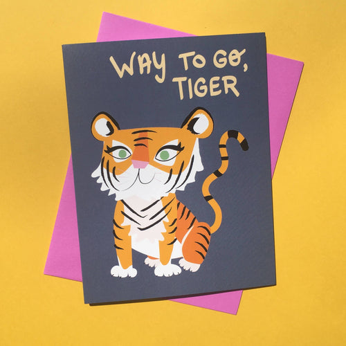 """Way to Go Tiger!"" card"