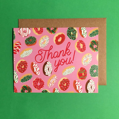 """Christmas Donut"" thank you card"