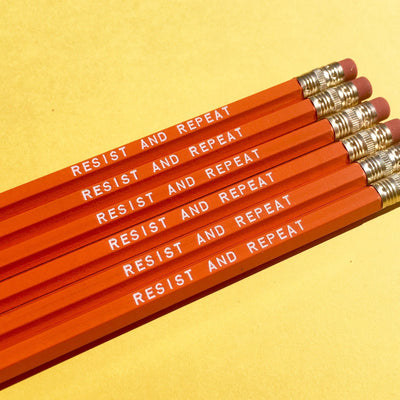 """RESIST AND REPEAT"" pencil set"