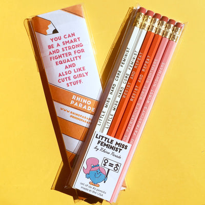 """LITTLE MISS FEMINIST"" pencil set"