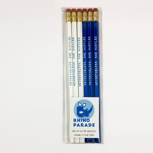 """Nevertheless, She Hustled"" pencil set"