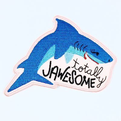 """Totally Jawesome"" iron-on patch"