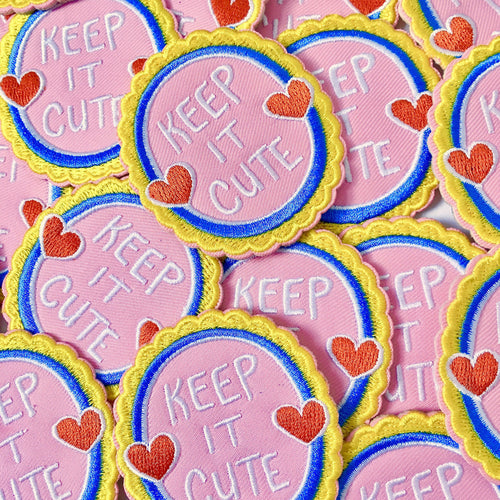 """Keep It Cute"" iron-on patch"