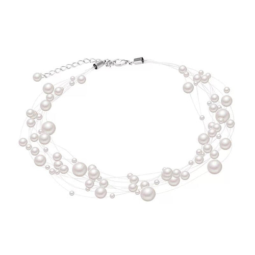Pearl Constellation choker necklace