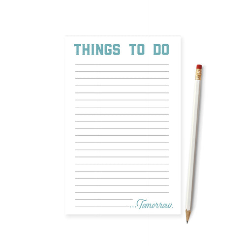 Things To Do...Tomorrow Notepad