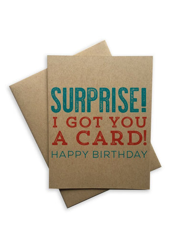 Surprise Happy Birthday Notecard